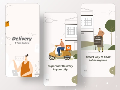 Delivery & Table Booking ui app design illustrations illustration art foodies ofspace agency dribbble branding ofspace illustration illustrator food illustration food and drink food app foodie food