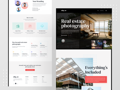 Real Estate Photography by Ofspace minimalist real estate branding photography interface realestatelife landingpages visual design uxdesigner real estate agency ofspace website design landingpage website realestate