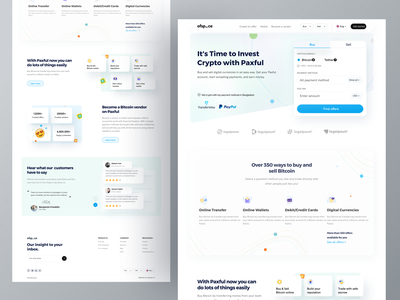 Fintech Home page I Ofspace bitcoin exchange bitcoin redesign concept minimal clean ui landing page user interface design fintech website ofspace agency dribbble logo crypto exchange cryptocurrency financial services ofspace website design app design branding fintech branding fintech app