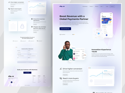 Fintech Landing page by Ofspace design inspiration fintech branding financial services ofspace bootstrap css home page landing page design web design website web user experience interface design ui design mobile app money management money transfer money finance app fintech