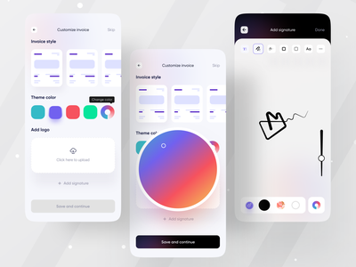 Tyro Financial App I Ofspace esignature ofspace agency branding design branding company branding colorful client management money transfer money invoice template invoice design invoice application ui mobile app mobile finance tyro