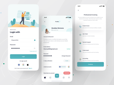 Tyro Finance Mobile app I Ofspace banking fintech app fintech ofspace uiux invoicing app client accounting case study send money invoicing invoice template invoice money finance app finances finance tyro