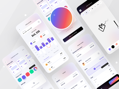 Tyro Financial App I Ofspace branding fintech app app design ofspace agency gradient bill billing statistics invoice app finance app finance invoice design invoice fintech mobile ui mobile app mobile