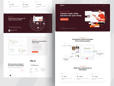 eTutor Platform I Ofspace branding web design website design e-courses e-learning tutor learning management learning course graphic design online learning education etutor web ui web