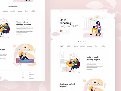 Child Teaching Platform webdesign webui teaching child