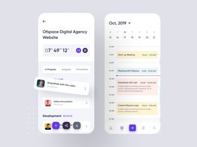 Project Tracking iOS App Design