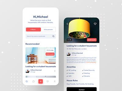 Flatmate Finder App real estate web ofspace airbnb room booking real estate logo real estate branding real estate agency real estate agent real estate rental app roommate flatmate