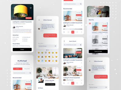 Flatmate Finder App branding ux ofspace android app ios app app design application flatmatte rental app rentals rentapp realestate real estate branding real estate agency real estate agent real estate logo real estate rental app