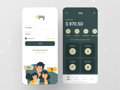 Ofpay - Online Payment App branding payment method ofspace ios app app design banking app bank app banking online payments payment form payment app paypal pay payments googlepay paytm online payment bank payment
