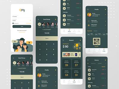 Ofpay - Online Payment App branding ui app app design ofspace wallet app wallet online banking online payment bank app banking bank payment form payment app payments pay payment