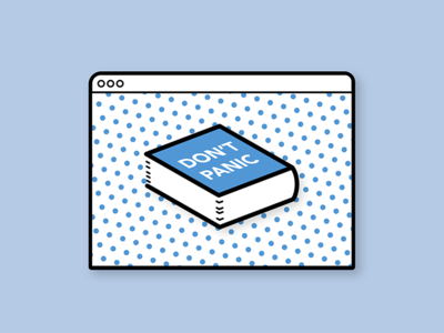 Don't panic polka dots book guide hhgttg