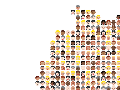Inclusive Country refugees country map emoji germany etnicity