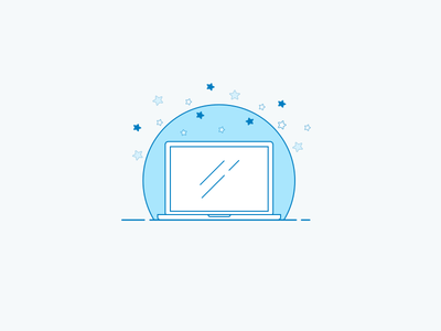Laptop okta vector walkthrough laptop lineart illustration icon