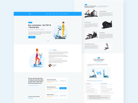 Crosstrainer Buying Tips Blog Site UI Design