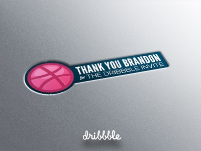 Dribbble thanks