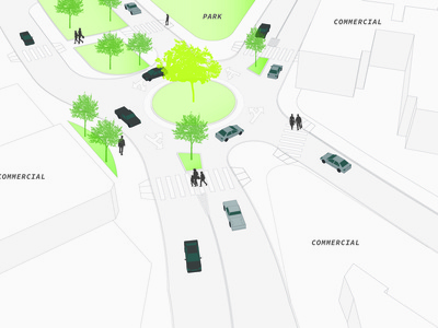 Roundabout Street Design