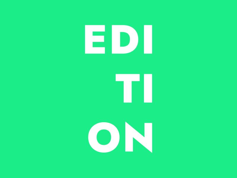 Edition: logo modern branding mark finance investment fund typography type wordmark logo letspanda