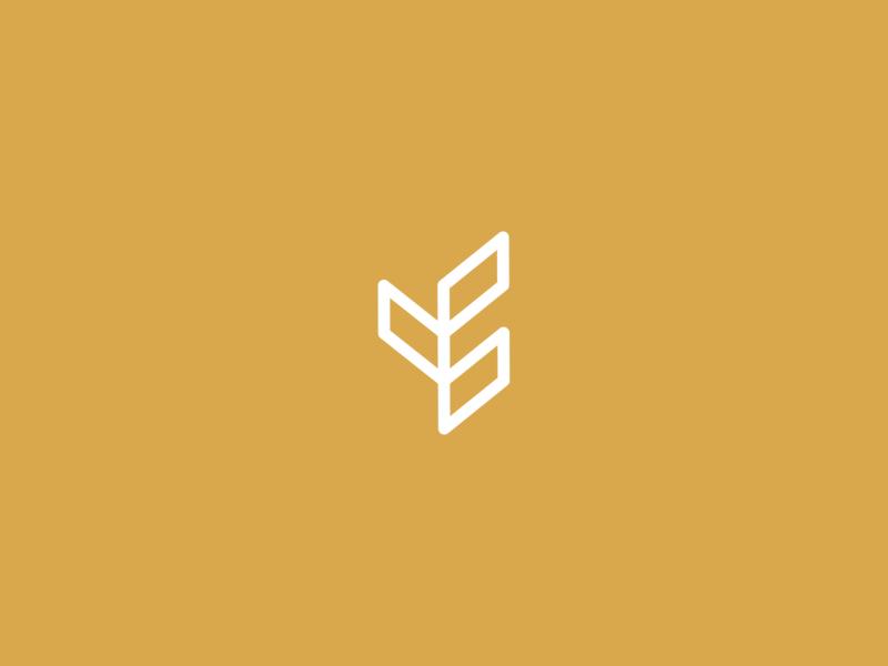Agrival: Symbol minimal wheat agriculture grain symbol mark minimalist branding logo letspanda