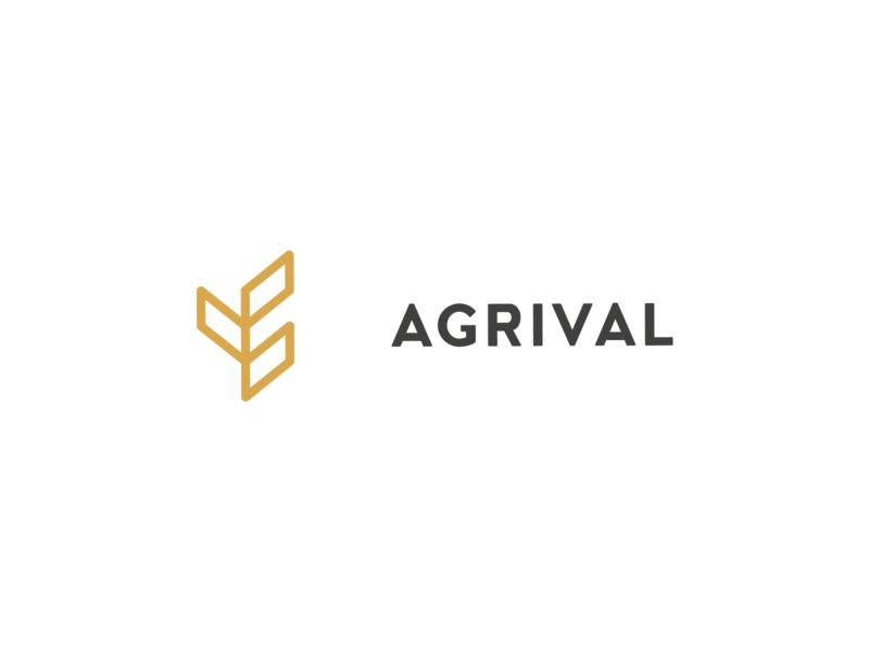 Agrival: Logo minimalist minimal agriculture property investment growth grain wheat branding logo letspanda