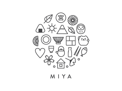 Logo Redesign For Miya, A NY Based Importer And Wholesaler Of Japanese  Tableware And Gifts. Numerous Visual Clues And Oriental Motifs Help To  Express The ...