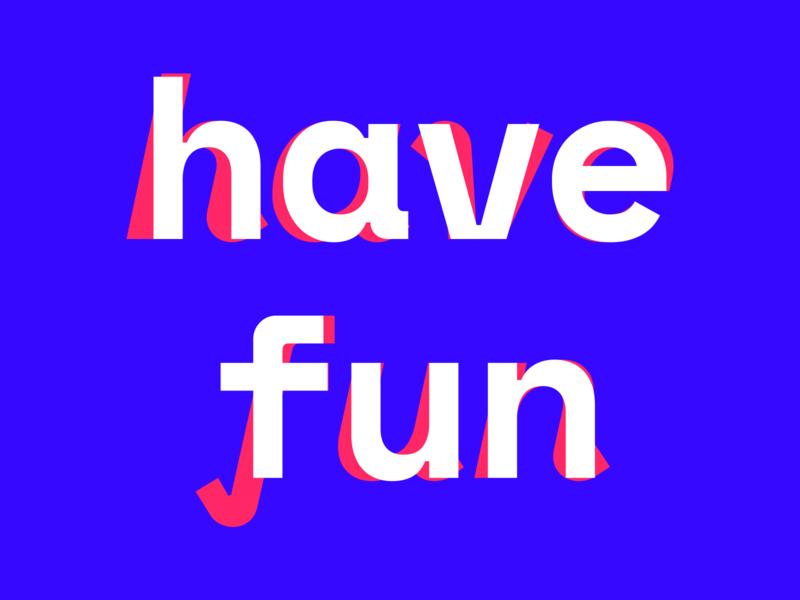 have fun modern poster postcard fun letters typography type letspanda