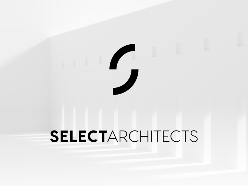 Select Architects: Logo lettermark construction space typography type minimalist minimal architecture architects mark logo sa a s