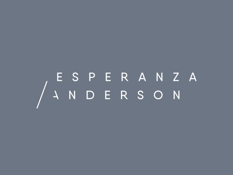 Esperanza Anderson clean modern minimal advisor law typography type wordmark branding minimalist logo letspanda
