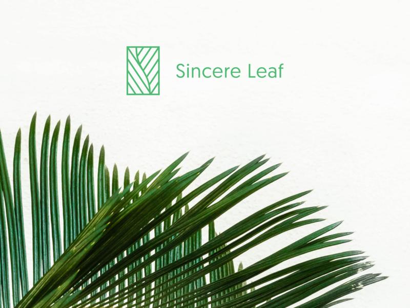 Sincere Leaf: Logo lettermark modern minimalist minimal rectangle line leaf s mark logo branding letspanda supplement skincare cosmetics
