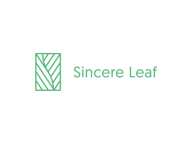 Sincere Leaf: Logo modern clean minimalist minimal logo branding letspanda nature lettermark sophisticated elegant leaf s vitamins supplements cosmetics