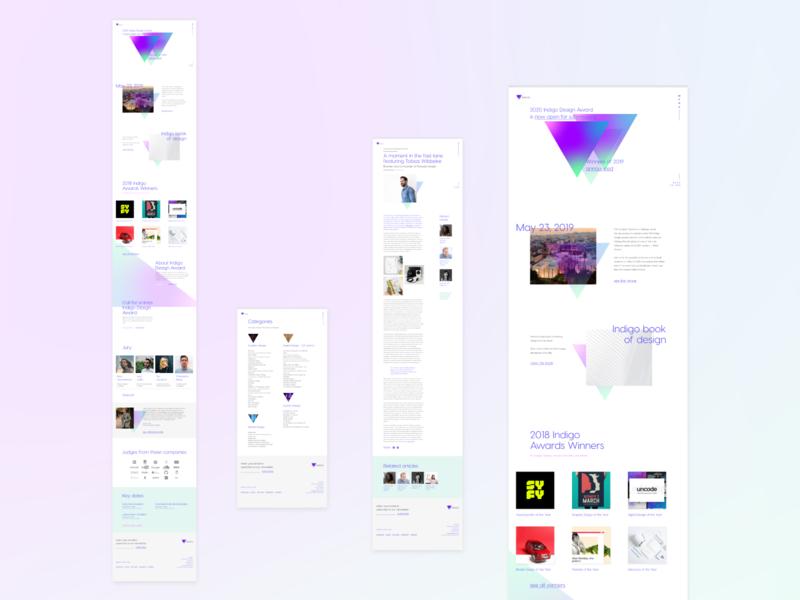 Indigo: Web Design geometric indigo award awards grid modern gradient triangle typography type layout ui ux website design website web design web branding letspanda