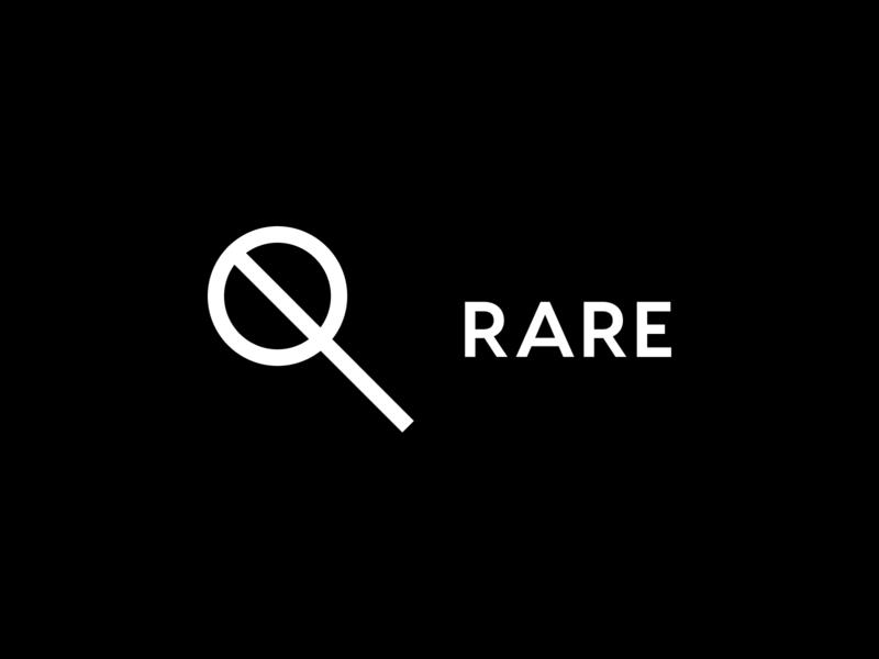 RARE: Logo music events rare modern minimal typography type symbol mark minimalist branding logo letspanda