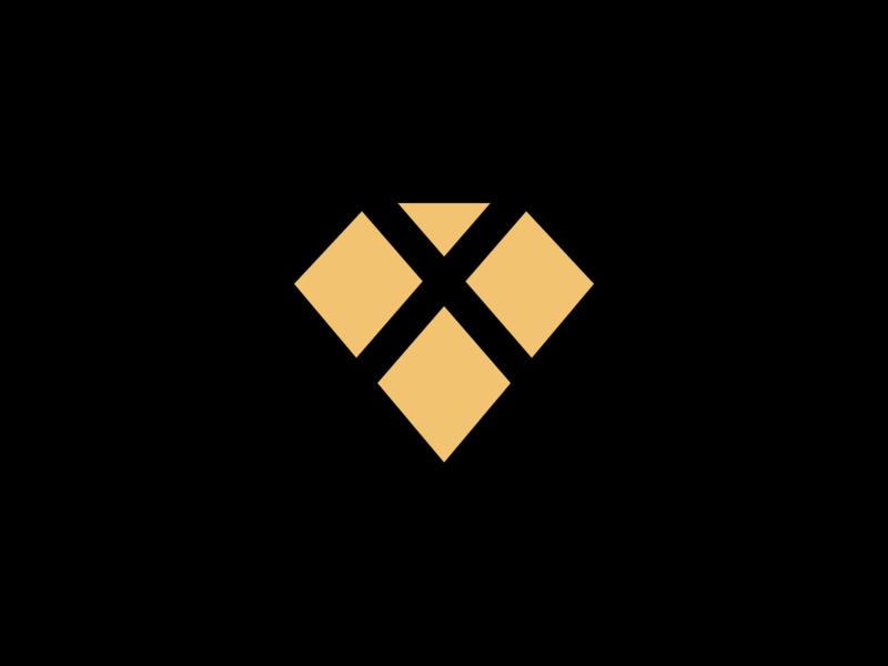 Gem X: Symbol jewels jewelery diamond mark letspanda x symbol branding logo stone gem jewellery jewelry