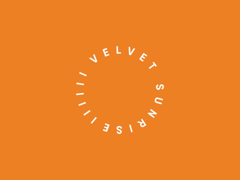 Velvet Sunrise: Logo coffeeshop minimalist minimal typography type velvet sunrise cafe roastery circle coffee shop coffee mark branding logo letspanda