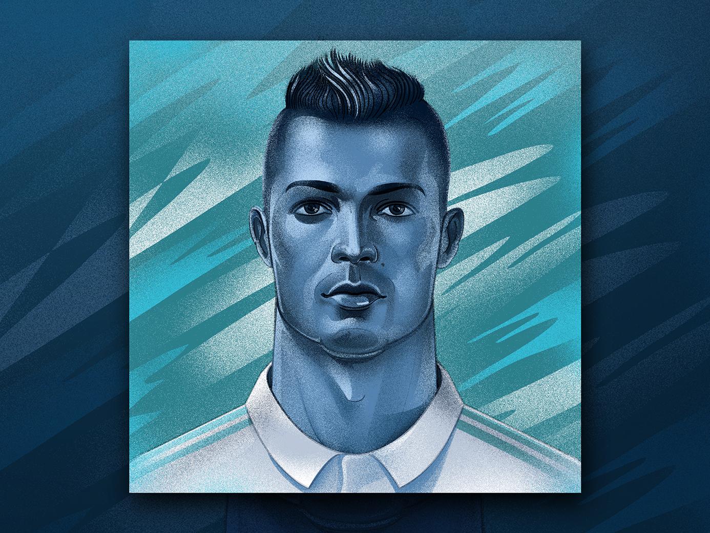 Cristiano Ronaldo graphic design prints ronaldo cristiano ronaldo portrait illustration portait art portrait design illustration