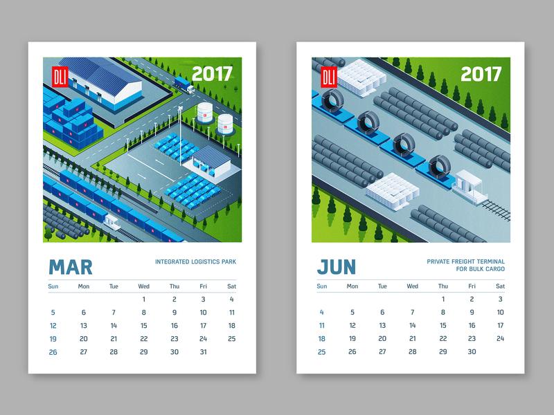 DLI calendar design prints vector isometric design isometric graphic design design illustration