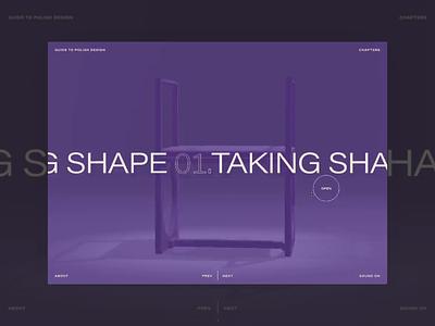 design guie menu slider navigation glitch guide history design
