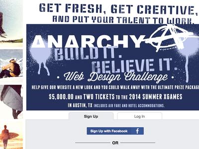 Anarchy Design Challenge web ecommerce design challange