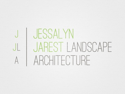 Jjla3 landscape architecture logo branding