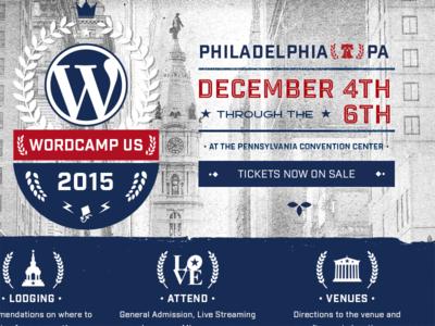 WordCamp US Site us wordcamp branding website wordpress
