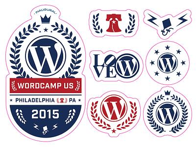 WordCamp US Stickers wordpress wordcamp stickers