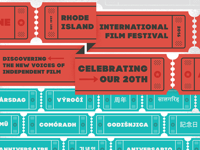RIIFF Logo and Poster film festival poster brand logo