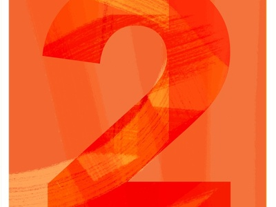 Number 2 for 36 Days of Type 07 minimal number logo graphic branding digital art colorful type design 36 days of type illustration