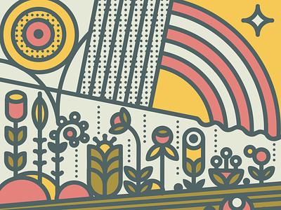 Mothers Day Garden colorful illustration digital art