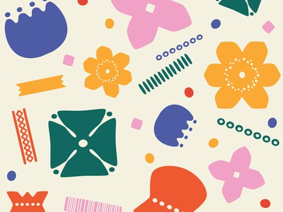 Papercut nordic flower pattern bold boldflower flat illustration flowers nordic papercut pattern art vector logo graphic branding digital art colorful design illustration