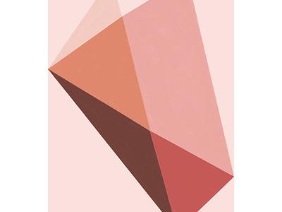 Abstract geometric study pink stone minimal digital art pink procreate art geometric art abstract art