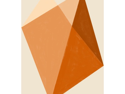 Abstract geometric study salted caramel digital art orange procreate art geometric art abstract art minimal