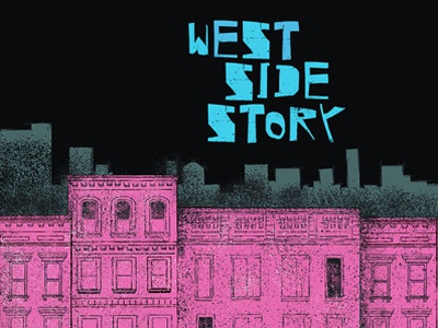 West Side Story 2020 poster procreate art digital art new york city musical broadway poster illustration poster design poster art west side story illustration