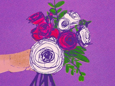Nosegay, for 21 Days of Fresh Flowers flowers illustration floral illustration nosegay illustration digital art colorful illustration