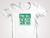 Pine Hill School 5K logo design