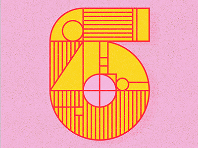 36 Days of Type Number 6 number 6 36 days of type design illustration six